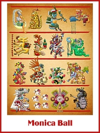Mesoamerican Codex Chatacters Bookplates