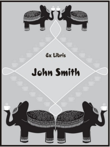 Indian Elephants Bookplates