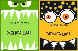 Monster Faces, Children Bookplates