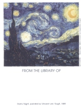 Van Gogh Starry Night Bookplates by Antioch