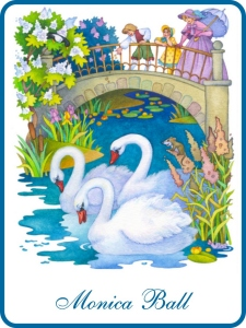 Swans Swimming Bookplates