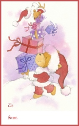 Santa Bear Juggling Boxes, To-From Bookplates, Kids